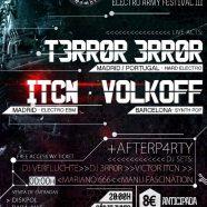 ELECTRO ARMY FESTIVAL III: T3RR0R 3RR0R + ITCN FIGHT + VOLKOFF, 17 de junio en la Sala Maravillas, Madrid