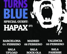 PINK TURNS BLUE + HAPAX, ¡TRES FECHAS EN ESPAÑA!