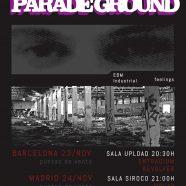 PANKOW + PARADE GROUND EN BARCELONA Y MADRID EN NOVIEMBRE