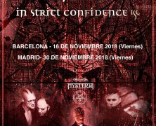 RECORDATORIO: DAS ICH + IN STRICT CONFIDENCE + PRIEST, EN BARCELONA Y MADRID EN NOVIEMBRE