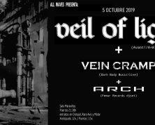 VEIL OF LIGHT + VEIN CRAMP+ ARCH (FEMUR RECORDS DJSET), 5 DE OCTUBRE EN MADRID