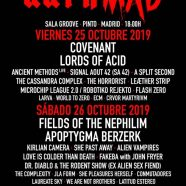 DARKMAD FESTIVAL, 25/26 DE OCTUBRE DE 2019, SALA GROOVE, PINTO, MADRID